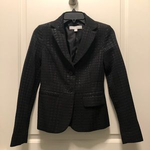 New York Company Black Sheen Textured Blazer 0